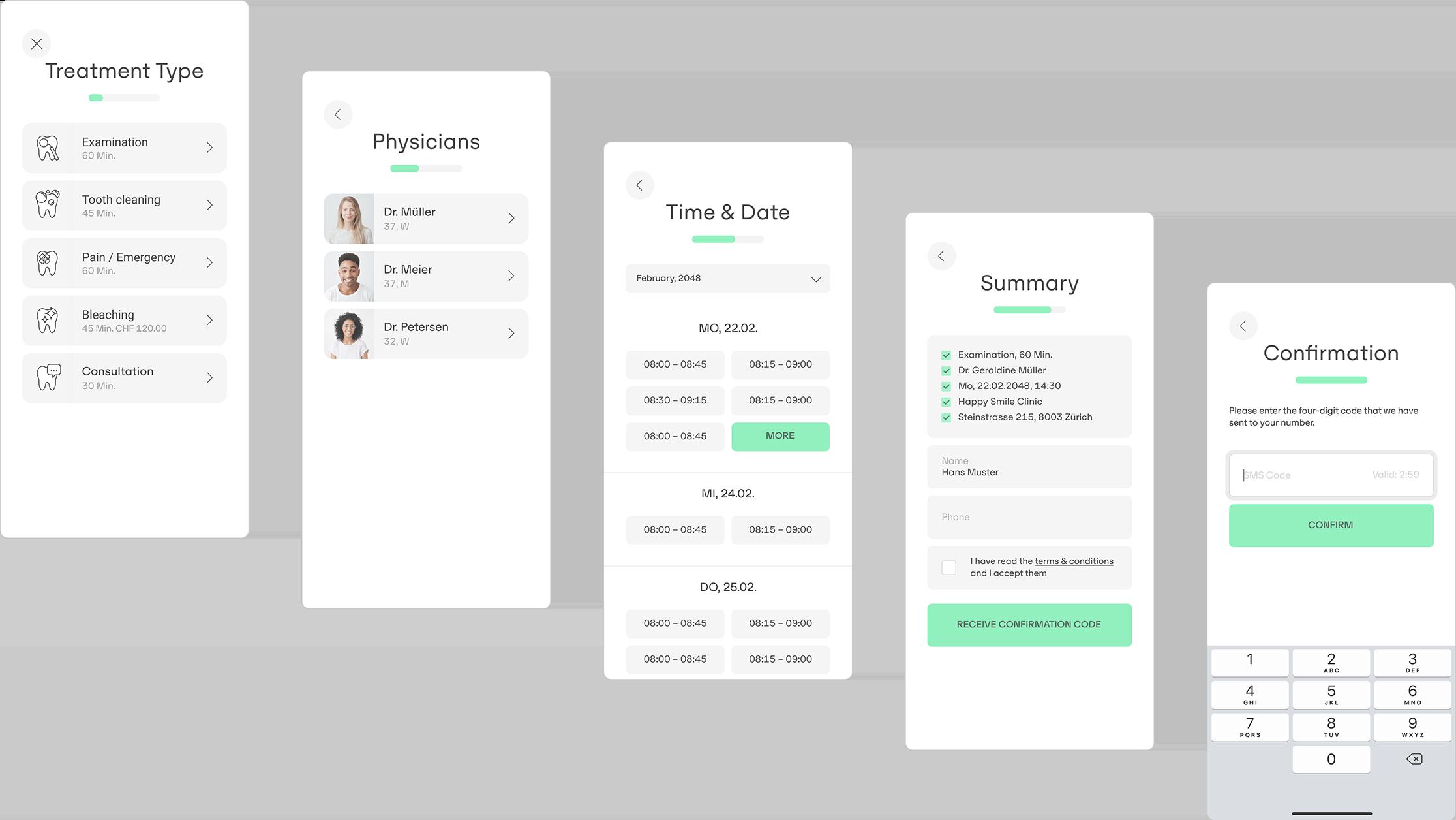 denteo features – online booking