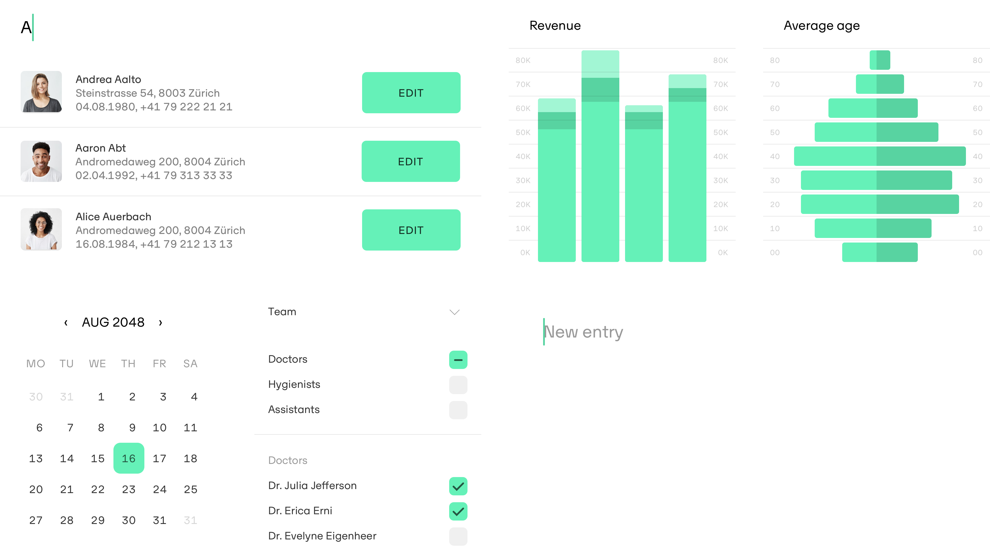 denteo features – design, interface